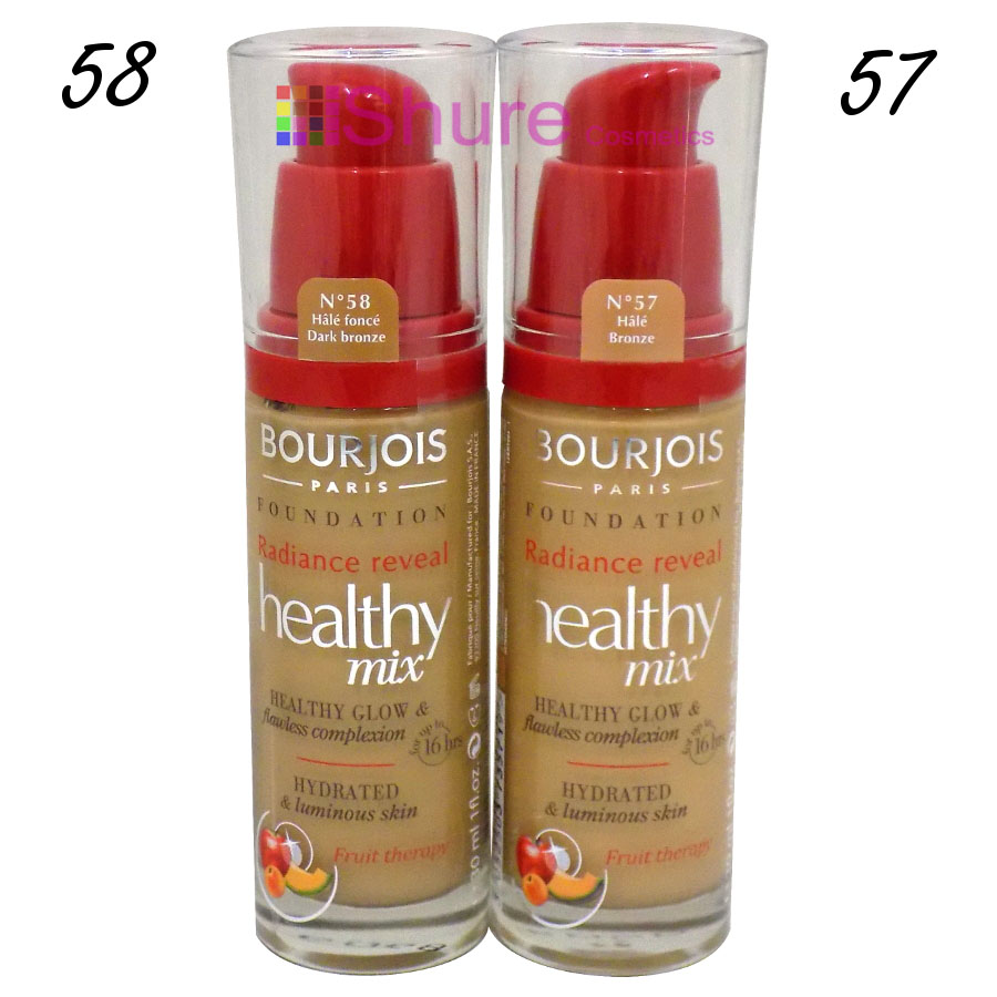 Bourjois Healthy Mix Radiance Reveal Foundation 57 58 Face Make Up Cosmetics Shure Wholesale Cosmetics