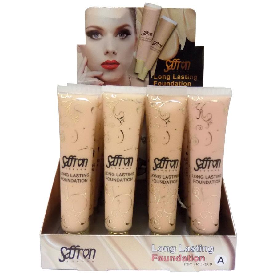 Saffron Long Lasting Foundation 24pcs 7008 2 Options 0 80 Each Saffrron 91 Face Make Up Cosmetics Shure Wholesale Cosmetics
