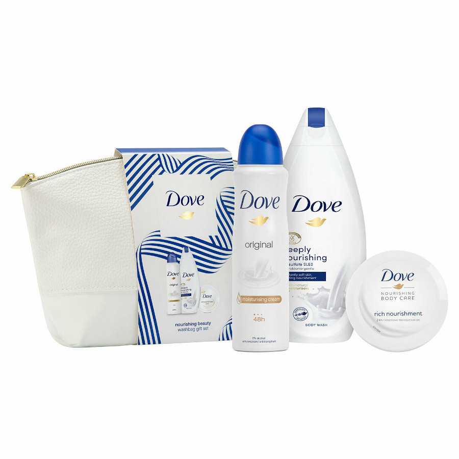 Dove Cosmetics Dove Nourishing Beauty Wash Bag Gift Set Skin Care Gift Set