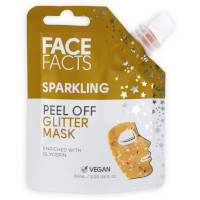 Face Facts Gold Sparkling Peel-Off Glitter Mask - 60ml (0215) (20215-150) FF/02