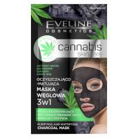 Eveline Cannabis Skincare Purifying & Mattifying Charcoal Mask (12pcs) (£0.50/each) (0068) EVE/79