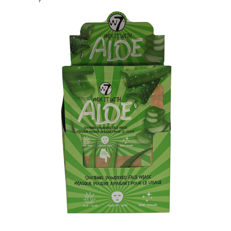 W7 Mix It With Aloe Soothing Powdered Face Mask (24pcs) (£0.94/each) (6834) W7/Mask-13