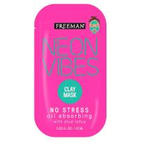 Freeman Neon Vibes No Stress Clay Mask Sachet (8069) FREEMAN/12