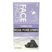 Face Facts Charcoal Nose Pore Strips - 6 Strips (2313) (72313-150) FF/24b