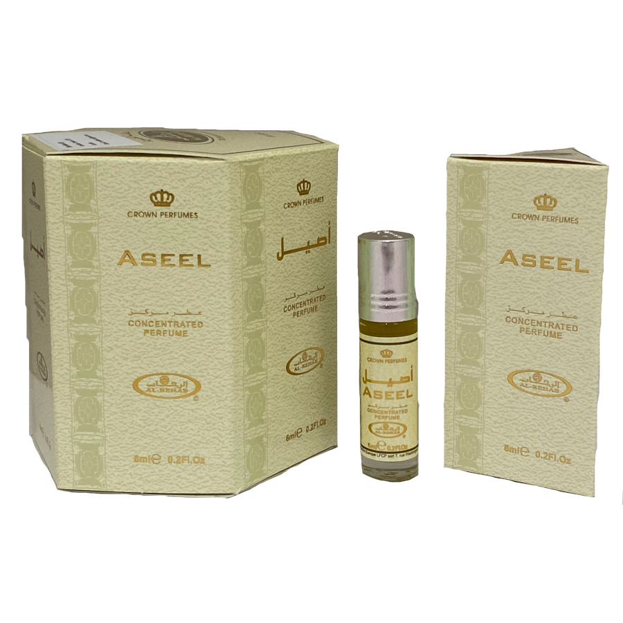 Aseel Roll On Perfume Oil - 6ml (6pcs) Al-Rehab (£1.25/each) (0995) (OPP/SAFFRON)