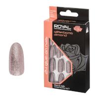 Royal 24 Glue-On Nail Tips - Glitter Bomb Almond (6pcs) (NNAI328) (£1.23/each) ROYAL/4