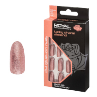Royal 24 Glue-On Nail Tips - Lucky Charm Almond (6pcs) (NNAI329) (£1.23/each) ROYAL/131