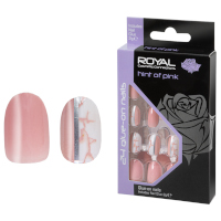 Royal 24 Glue-On Nail Tips - Hint Of Pink (6pcs) (NNAI343) (£1.23/each) ROYAL 61B