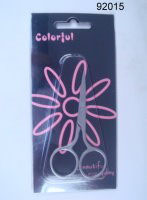 Colorful Nail Scissors with Round Finger Holes (5pcs) 92015