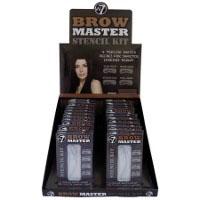 W7 Brow Master Stencil Kit (24pcs) (BROWMST) (0552) (£0.79/each) D/1