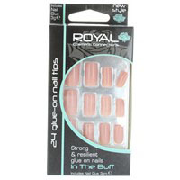 Royal In The Buff Glue on Nails with 3g Glue (6pcs) NNAI101 (ROYAL 123) (£1.05/each)