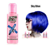 Crazy Color Semi Permanent Hair Color Cream 100ml - Sky Blue (4pcs) (£2.23/each) CC14