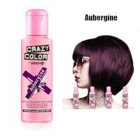Crazy Color Semi Permanent Hair Color Cream 100ml - Aubergine (4pcs) (£2.23/each) CC6