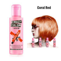 Crazy Color Semi Permanent Hair Color Cream 100ml - Coral Red (4pcs) (£2.23/each) CC9