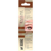 Eveline Art Scenic Brow Corrector 3in1 - Brown (3pcs) (£1.00/each) (3765)