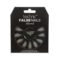 Technic False Nails - Almond Coloured French Tip (6pcs) (29136) (£1.42/each) T/Nail-9