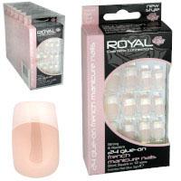 Royal 24 Glue-On Nail - French Manicure Petite Nails (6pcs) NNAI048 (ROYAL 120) (£1.05/each)