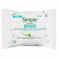 Simple Micellar Make-Up Remover Eye Pads (30 Pads) (12pcs) (£1.05/each)