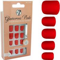 W7 Glamorous Nails - Red Carpet (12pcs) (£1.11/Each) (8023) W7 NAILS 21