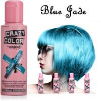 Crazy Color Semi Permanent Hair Color Cream 100ml - Blue Jade (4pcs) (£2.23/each) CC37