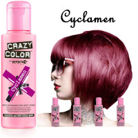 Crazy Color Semi Permanent Hair Color Cream 100ml - Cyclamen (4pcs) (£2.23/each) CC32