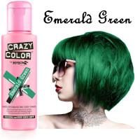 Crazy Color Semi Permanent Hair Color Cream 100ml - Emerald Green (4pcs) (£2.23/each) CC18