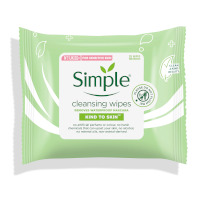Simple Kind To Skin Cleansing Facial Wipes - 25 Wipes (6pcs) (£1.08/each) (7759)