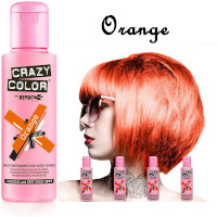 Crazy Color Semi Permanent Hair Color Cream 100ml - Orange (4pcs) (£2.23/each) CC5