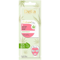 Delia Botanical Flow Soothing Red Clay Mask With Hemp Oil - 10g (12pcs) (£0.50/each) (5505) C/24