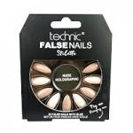 Technic False Nails - Stiletto, Nude Holographic (6pcs) (£1.39/each) (20136) T/Nail-20