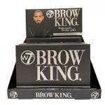 W7 Brow King. Ultimate Eye & Brow Palette (6pcs) (BROWK) (9712) (£4.38/each) B/8A
