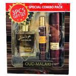 Oud Malaki (Unisex 3pc Gift Set) Saffron (2684)