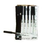 Saffron Black & White EyeLiner Pencil (36pcs) [120] (SAFFRON 21) (£0.37/each)