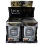 W7 Brow Bar Eyebrow Stencil Kit (12pcs) (0855) (EBB) (£2.13/each) D54
