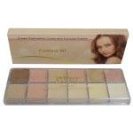 Saffron Cream Foundation Cover and Conceal Palette Contour Kit (SAFFRON 8)