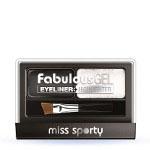 Miss Sporty Fabulous Gel Eyeliner + Highlighter (3pcs) 001 Black & White (£0.60/each) R/73a (6420)