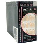 Royal 24 Glue-On Nail Tips - French Stiletto (6pcs) NNAI156 (ROYAL 127) (£1.05/each)