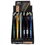Saffron Glitter Pencil (36pcs) Assorted (SAFFRON 55) (£0.43/each)