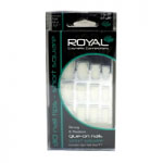 Royal Glue on Nails Tips - Short Square (6pcs) NNAI007 (ROYAL 117) (£0.80/each)