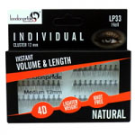 London Pride Individual Instant Volume & Length Natural Lashes (Cluster 12mm) (LP33) (Red) (6pcs)