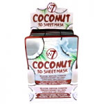 W7 Coconut 3D Sheet Mask (24pcs) (FACEMC3D) (£0.57/each) (8963) W7/Mask-17