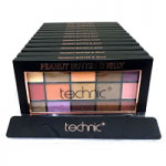 Technic 15 Eyeshadows Palette (12pcs) (28531) (Peanut Butter & Jelly) (£1.67/each) A/9
