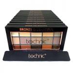 Technic 15 Eyeshadows Palette (12pcs) (28536) (Bronze & Beautiful) A9 (£1.67/each)