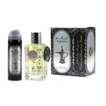 Dirham Silver (Unisex Halal 100ml EDP + Deodorant) Ard Al Zaafaran (2612) (ARABIC/78)