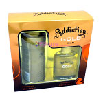 Gold Gift Set (Mens 50ml EDT + 150ml Body Spray) Addiction (2131)