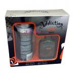 One Gift Set (Mens 50ml EDT + 150ml Body Spray) Addiction (9064)