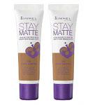 Rimmel Stay Matte Liquid Mousse Foundation (2pcs) (502 Warm Caramel) (£0.75P/each)