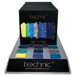 Technic Pressed Pigments Eyeshadow Palette - Captivated/Sapphire (29503) 10pcs (£1.45/each) F/16