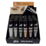 Saffron Glitter Eyeliner (24pcs) Assorted (No: 5768) (SAFFRON 35a) (£0.92/each)