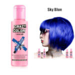 Crazy Color Semi Permanent Hair Color Cream 100ml - Sky Blue (4pcs) (£2.23/each) CC/26